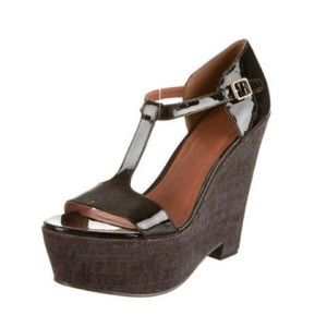 Elizabeth and James Sanda T-Strap Platform Wedges